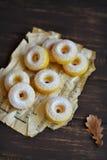 南瓜油炸圈饼 库存照片