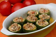 南瓜用肉和蔬菜 免版税库存图片