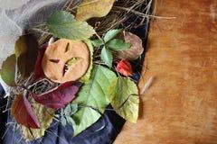 以南瓜的形式面孔 万圣节 图库摄影