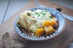 南瓜砂锅用乳酪 库存图片