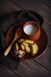 南瓜蛋糕用巧克力 库存照片
