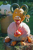 南瓜雕塑 免版税库存图片
