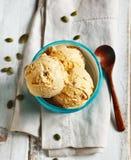 南瓜饼冰淇凌 免版税图库摄影