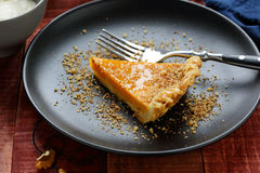南瓜馅饼用蜂蜜 库存照片