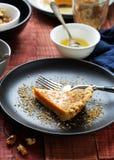 南瓜馅饼用蜂蜜 图库摄影