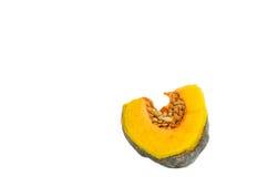 南瓜Pice在白色背景的 免版税库存图片