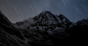 南的Annapurna,喜马拉雅山,尼泊尔 库存照片