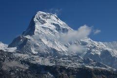 南的Annapurna 免版税库存图片