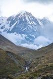 南的Annapurna 免版税库存照片