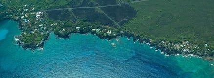 南空中大海岸海岛kona的射击 图库摄影