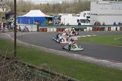 南约克郡Kart俱乐部SYKC 2017年3月12日的赛马大会 库存图片