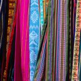 南美国五颜六色的织品 图库摄影