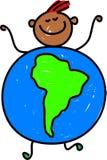 南美国的孩子 库存例证
