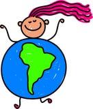南美国的孩子 向量例证
