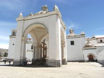 南美国的教会 免版税库存照片