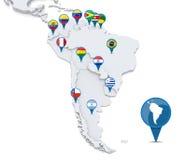 南美国的映射 向量例证