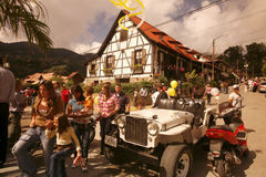 南美委内瑞拉科洛尼亚省托瓦节日 免版税库存照片