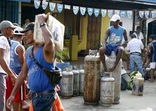 南美委内瑞拉CHORONI市场气体 图库摄影