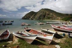 南美委内瑞拉ISLA MARGATITA潘帕塔尔海滩海岸 库存图片
