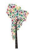 南美洲手印刷品树标志世界帮助 皇族释放例证