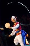 南舞蹈演员的韩文 图库摄影
