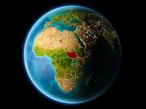 南苏丹在晚上 库存照片