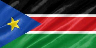 南苏丹旗子 免版税库存图片