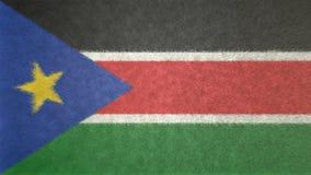 南苏丹3D的原始的旗子图象 皇族释放例证