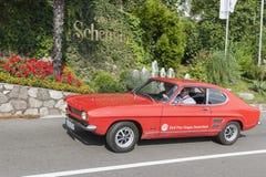 南蒂罗尔Rallye 2016_Ford Capri_red 免版税库存照片