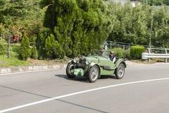 南蒂罗尔Rallye 2016_MG J2_green_front 免版税库存图片