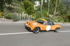 南蒂罗尔Rallye 2016_VW保时捷914-6 免版税库存照片