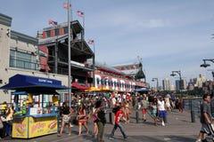 南街道海港,码头17, NYC 免版税库存照片