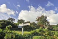 南西海岸小径, Exmoor 免版税库存照片