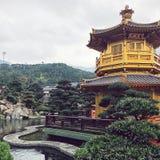 南连家庭院,香港 免版税库存照片