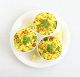 南部柠檬米印地安传统和普遍的素食早餐 免版税库存图片