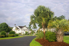 南部的住宅邻里 免版税库存图片