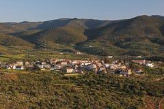 南部的希腊村庄 免版税图库摄影