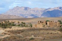 南部的摩洛哥风景 免版税库存图片
