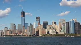 南部的曼哈顿地平线 免版税库存图片