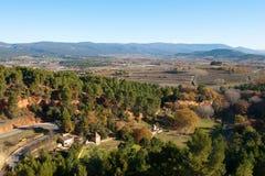 南部的法国山坡 免版税库存照片