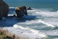 南部的海岛NZ 库存图片