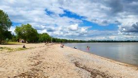 从南部的温尼培海滩 免版税库存图片