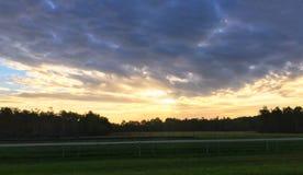 南部的秋天日出 免版税库存图片