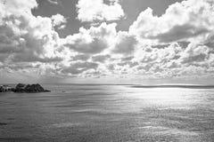 南部的英国海 免版税库存照片