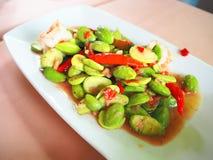 从南部的部分的泰国食物 免版税库存照片