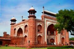 南部的门泰姬陵,阿格拉,印度看法  库存照片