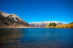 南部的高山阿尔卑斯山 库存照片