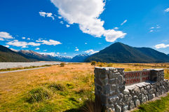 南部的高山阿尔卑斯山 免版税库存照片