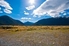 南部的高山阿尔卑斯山 库存图片