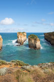 南部的维多利亚海岸线,澳大利亚 库存照片